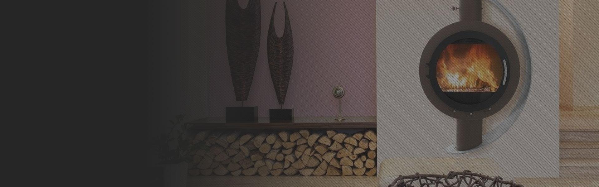 Samostoječi Kamin na drva Soluna